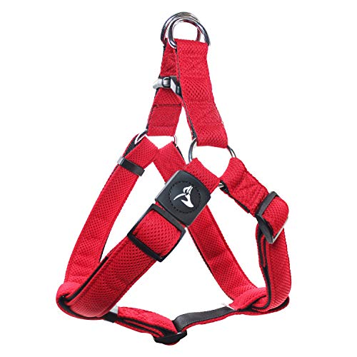 Kruz PET KZA201 Step In Mesh Dog Harness – No Pull, Easy Fit Adjustable Pet Harness – Comfortable, Lightweight Padded Harness for Walking or Training Small, Medium, or Large Dogs
