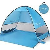 Glymnis Beach Tent Pop Up Large Portable UPF 50+ Sun Protection Mesh Windows