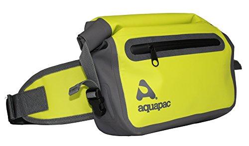 AQUAPAC Wasserdichte Hüfttasche Waist Pack, acid green/Grau, 17 x 35 x 8 cm, 3 Liter