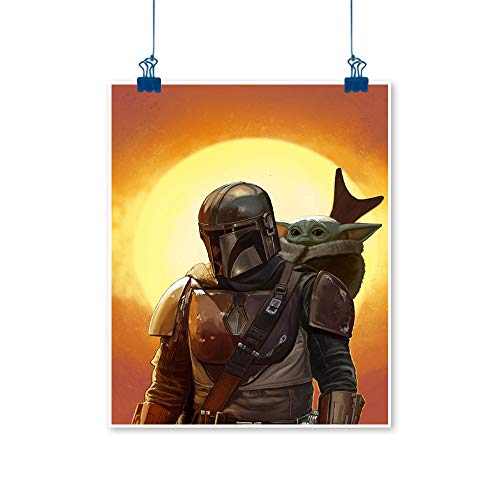 Xlcsomf Star wars 3D Oil Painting baby yoda star wars tv show the mandalorian for Living Room Decor Unframed 12 x 16 Inch