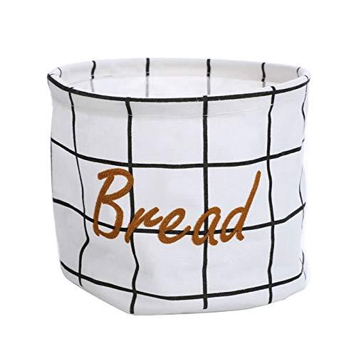 JUNQIAOMY Cesta de Almacenamiento Estilo nórdico Pequeño algodón y Ropa de Almacenamiento Cesta de Almacenamiento Cubo de Almacenamiento Cesta de Pan Cesta de Tela Impermeable Cesta de lavandería