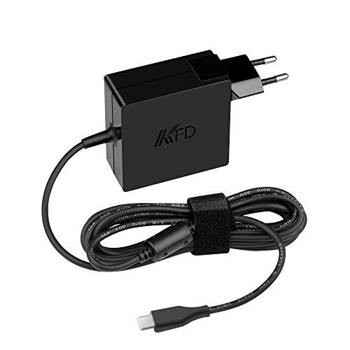 KFD 65W 45W USB Tipo C Cargador Portátil Adaptador para Lenovo ThinkPad T470 T480 T480S L480 Yoga 370 730-13IKB X270 X280 X380 Yoga 720 13' Yoga 910 Miix 720 IdeaPad 720s Type C Power Supply Adapter