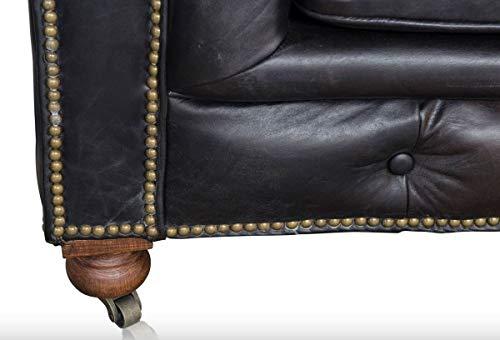 Casa Padrino 6 Seater Sofa Black 410 x 120 x H. 77 cm – Chesterfield Furniture