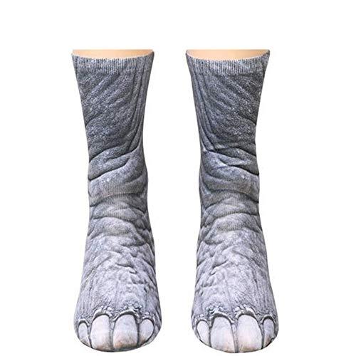 ITISME Chaussettes 3D motif Chaussettes patte animal imprimée par sublimation