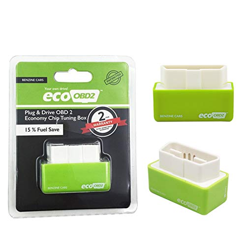 Plug & Drive Nitro OBD2 Performance Chip Tuning Box für Benzinfahrzeuge (Green-Eco)