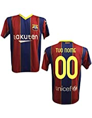 Maglia T-Shirt Replica Barcellona 2020/2021 Bambino Adulto Personalizzata Personalizzabile (Messi, Griezmann, DEMBELè)