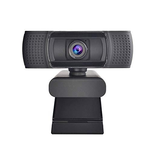 JMSUN Webcam HD 1080P Cámara web de transmisión con micrófonos duales, cámara de ordenador USB para Mac Xbox, YouTube Skype OBS, Webcam para conferencias de juegos, portátil o cámara web de escritorio