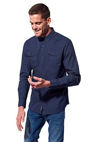 Kaporal - Chemise régular Homme imprimé en All Over en 100% Coton - Banjo - Homme - XL - Bleu