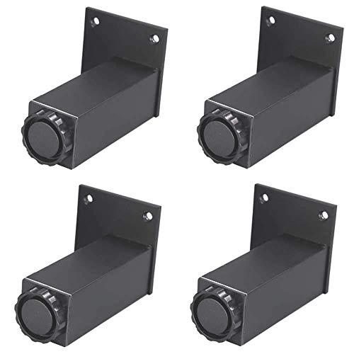 LHY meubelglijders – tafel en stoelpoten 4 * voeten waskeuken van staal met voetpedaal voor wasmachine cabinet zwart verstelbare standaard duurzaam