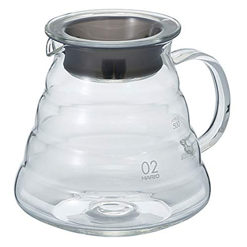 Hario V60'Clear' Glass Range Coffee Server, 600ml