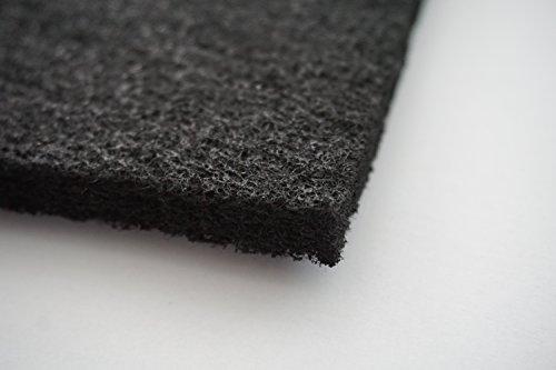 Aktivkohle ca. 1x1 m - Dicke ca. 10 mm Gerüche Geruch Rauch für leichte Emissionen Kohlefilter Universal Filtermatte Vorfilter