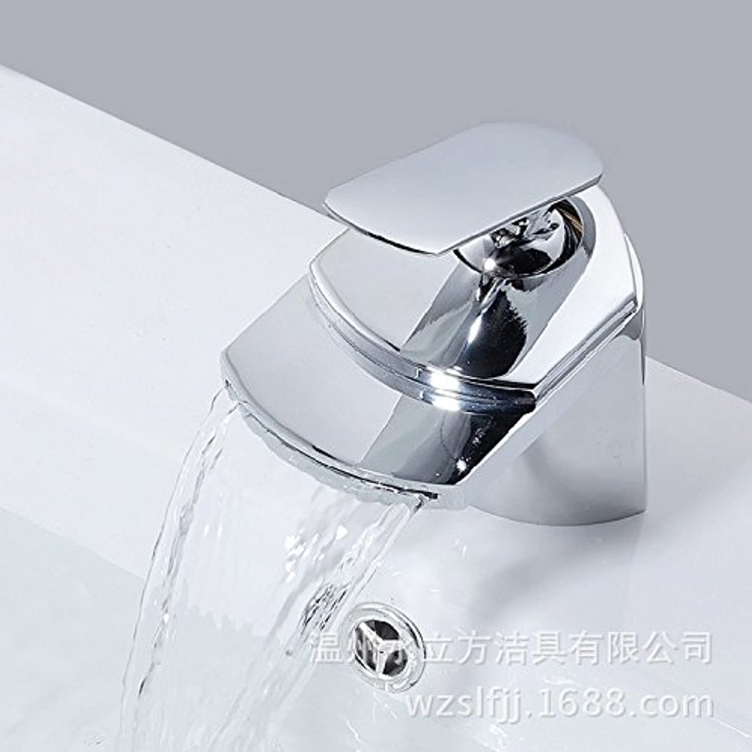 Basin faucet, wide mouth waterfall, hot and cold faucet, bathroom, basin faucet