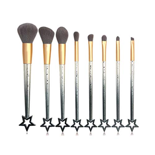 Diaod 8 PCS Star Maquillage Brosse Set Ombre à paupières Blush Lèvre Power Emile Brosse Soft Brush Soft Brosse Outil Accessoires Kit (Color : B)
