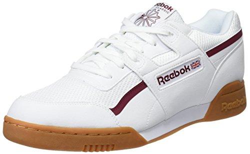 Reebok Cm9928, Zapatillas de Gimnasia para Hombre, Blanco (Whiteurban Maroonchalk Green), 44.5 EU