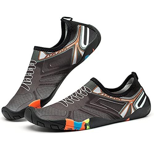 YANGLIXIA Zapatos de Deportes acuáticos Aqua Calcetines Descalzos para la Playa al Aire Libre Nadar Surf Ejercicio de Yoga para Mujeres y Hombres G-37