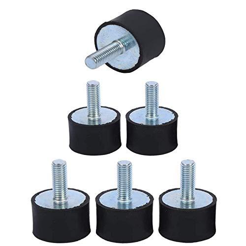Wohlstand Soportes de goma Amortiguador,Soportes aisladores de goma,Anti vibración Silentblock Bobinas,Aislador antivibración, coche barco bobinas M6 (Size : M6)-10 piezas