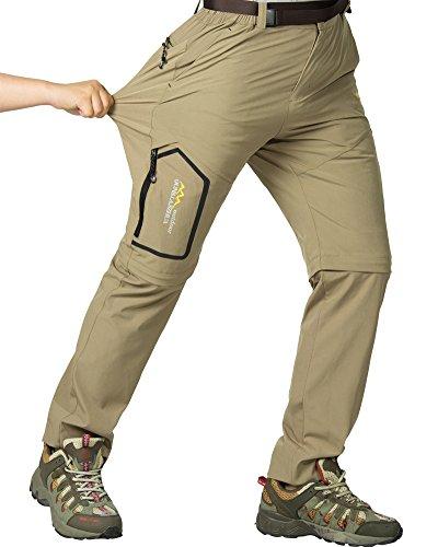 Jessie Kidden Damen Wanderhose, Safari-Hose, mit Reißverschluss, leicht und schnell trocknend, Stretch, Reise-Hose 26 1 #Khaki