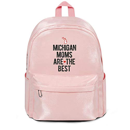 Michigan Moms Are The Best Bag Classic Nylon Packable Travel Daypack Backpack Bag