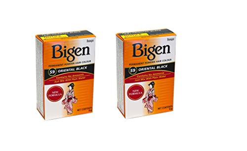 Bigen Permanent Powder Hair Color 59 Oriental Black 1 ea (Pack of 2)