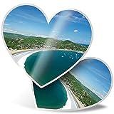 Impresionante 2 pegatinas de corazón de 7,5 cm – San Juan del Sur Nicaragua Playa Divertidas calcomanías para portátiles, tabletas, equipaje, reserva de chatarra, frigorífico, regalo genial #24140