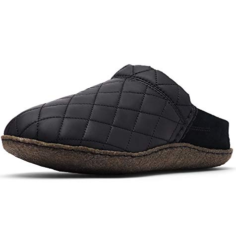 Sorel - Women's Nakiska Scuff Suede House Slippers with Faux Fur Lining, Suede/Nylon, Black, 7 M US