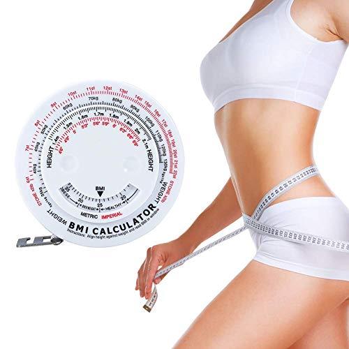 Indice di massa corporea BMI Retractable Tape 150cm Measure Calculator Peso dieta perdita di nastro Misure strumenti