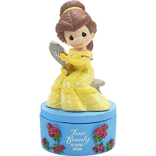 Precious Moments 202038 Beast True Beauty Belle Resin Disney Covered Box, One Size, Multicolored