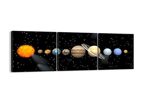 Quadro su Tela - Tre 3 Tele - Larghezza: 150cm, Altezza: 50cm - Numero dell'immagine 1486 - Pronto da Appendere - Completamente incorniciato - Elementi Multipli - CA150x50-1486