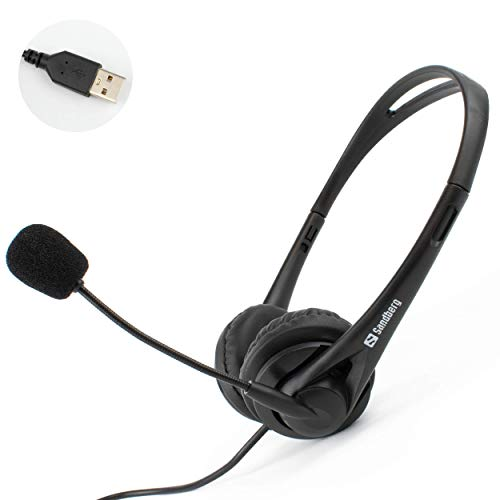 I-CHOOSE LIMITED USB Computer Laptop Office Headset with Stereo Microphone | Zoom or Skype Multimedia PC Webinar Chat | Comfortable | In-line Volume Control | Plug and Play
