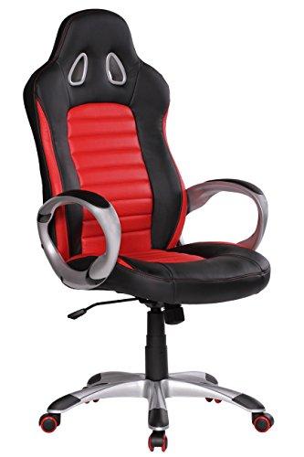 Amstyle Design Chaise de bureau, Rouge