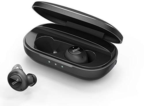 Zolo Liberty+ Total-Wireless Earphones, Bluetooth Earbuds with Graphene Driver Technology and 48 Hours Battery Life, Sweatproof Total-Wireless Earbuds with Smart AI and Toggle Sound Isolation