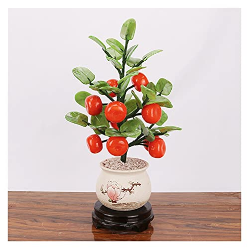 Artificial Bonsai Feng Shui Jade Plantas en maceta Árbol de dinero Decoración de estilo Bonsai para riqueza y suerte - Decoración de oficina en casa Regalos de decoración de sala de estar Plantas Mace