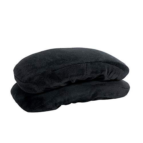 Healgen Ergonomic Memory Foam Office Chair Armrest Pads, Comfy Gaming Chair Arm Rest Covers(Set of 2) (Black Armrest)