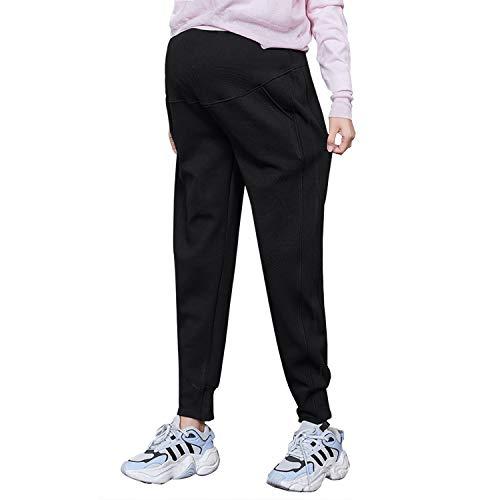 Irevial vrijetijdsbroek voor zwangere vrouwen, elastische zwangerschapslegging, voor dagelijks gebruik, broek, comfortabele stretch joggingbroek
