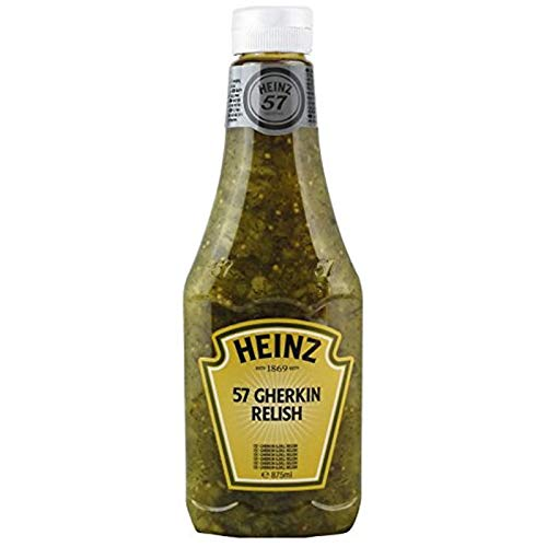 SALSA HEINZ 57 GHERKINS RELISH BOTTIGLIA 875ml SALSA AI CETRIOLINI BURGER PANINI