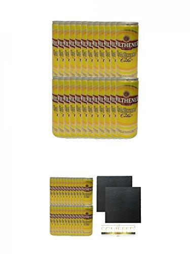Goldkrone und Cola 24 x 250 ml Dose + Goldkrone und Cola 24 x 250 ml Dose + Schiefer Glasuntersetzer eckig ca. 9,5 cm Ø 2 Stück
