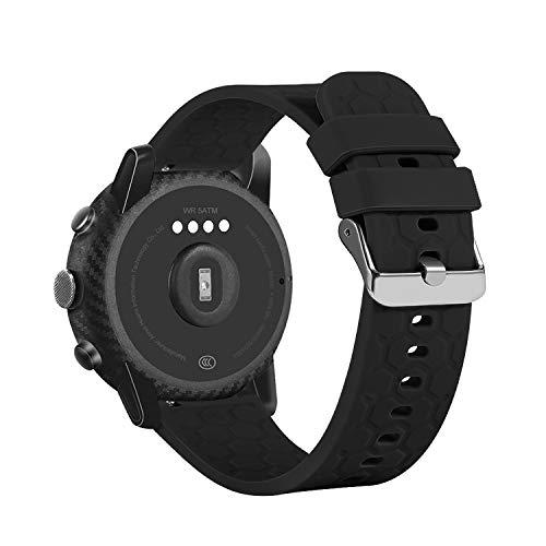 Tencloud Armbänder kompatibel mit Umidigi Uwatch 3/Willful/LIFEBEE/Letsfit/Letscom ID205L Armband, weiches Silikon Sport Verstellbares Ersatzarmband Zubehör für Uwatch3 Smartwatch (Schwarz)