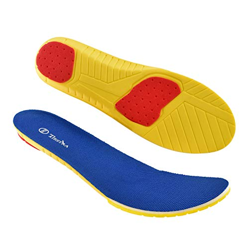 TIESTRA Comfort Memory Foam Insoles for Men and Women Replacement Shoe Inserts Odour for Hiking,Trainer and Running Shoes,Inner Soles Cushion Insoles