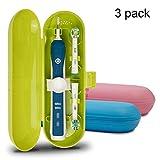 Estuche de viaje para cepillo de dientes eléctrico Oral-B Pro Series, 3 paquetes (azul, rosa y verde)