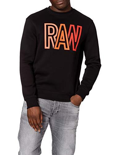 G-STAR RAW Herren Raw Swestshirt Sweatshirt, dk Black A971-6484, L