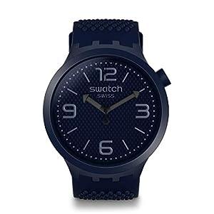 Swatch Reloj Analógico para Hombre de Cuarzo con Correa en Silicona SO27N100