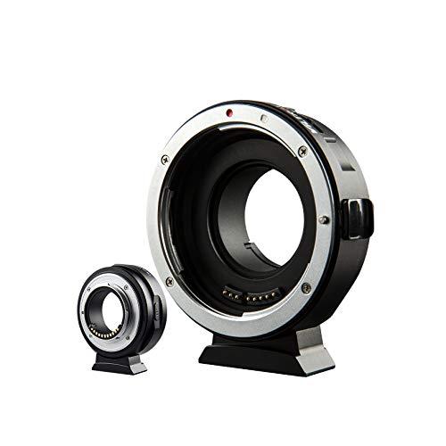 VILTROX EF-M1 マウントアダプター AF キヤノン Canon EF EF-Sレンズ→パナソニック オリンパス マイクロフォーサーズ M43カメラ変換 二重絞り調整 USBアップデートポート付き GH4 GH5 GF6 GF1 GX1 GX7 E-M5 E-M10 E-PL5