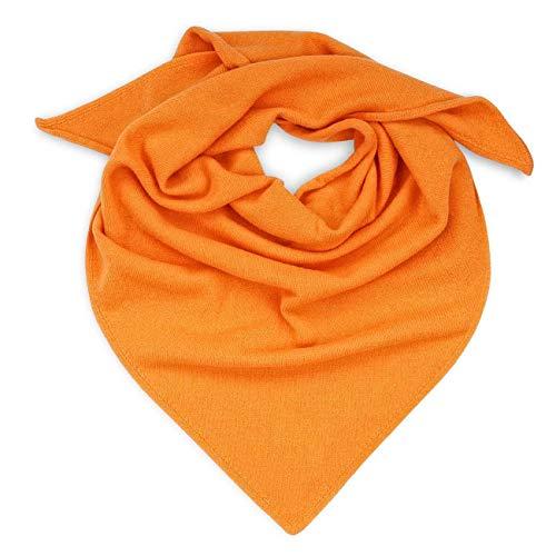 GIESSWEIN Schal Dreieckstuch - weicher Damenschal aus 100% Lammwolle, gestricktes Schultertuch, leichte Stola für den Herbst, leichtes und warmes Halstuch, Feinstrickschal aus Wolle