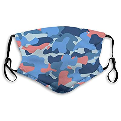 HOTBABYS Camo Reusable Activated Carbon Filter Face Covering with Replaceable Filter for Men Women M