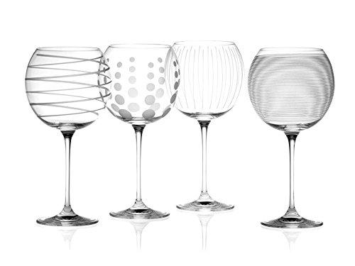Creative Tops Mikasa Cheers Globos de Cristal Gafas, Juego de 4, Multi