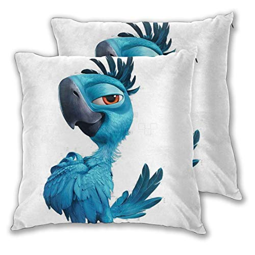 Obbligato Throw Pillow Covers Rio Angry Birds Square Pillowcases Modern Cushion Cases for Sofa Couch Bedroom Chair 22'x22'