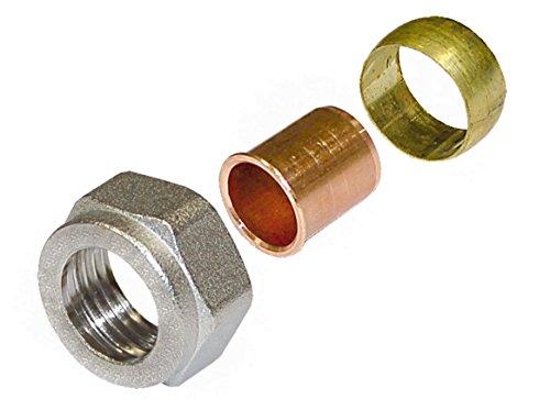 Wiroflex Anillo de adaptador para acero inoxidable y cobre Tubo atornillado Fitting...