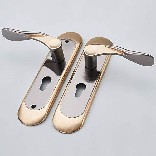 YLJR Juego de cerradura interior de aleación de aluminio, cerradura de puerta de madera para interior, simple tirador de la puerta tornillos interior armario
