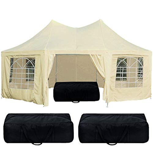 Quictent 6.8x5m Pagoda Octagonal Marquee Heavy Duty Large Gazebo Wedding Party Tent Event Shelter with 8 Removable Sidewalls