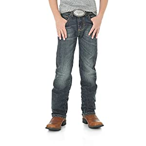 Wrangler Boys' Big Retro Slim Fit Straight Leg Jean